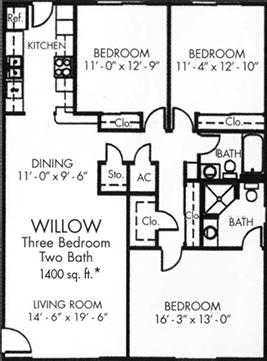 Willow Three bedroom